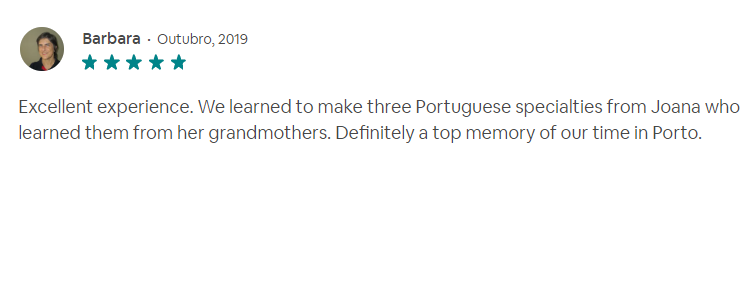 Porto Cooking Class Review